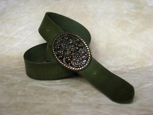 Zelený opasek 4cm