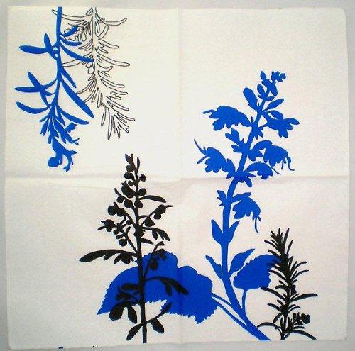 Ubrousek modré květiny