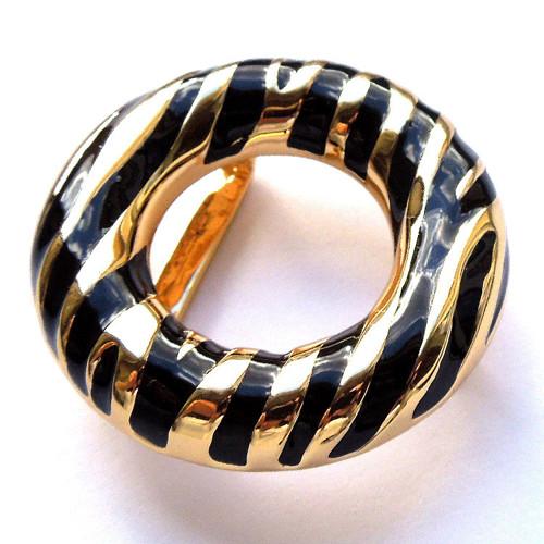Přezka na pásek, zlatočerná, elegantní