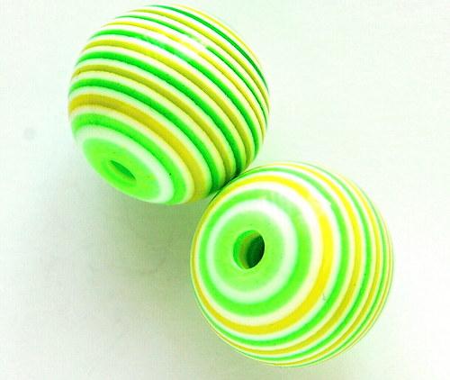 světle zelený korálek