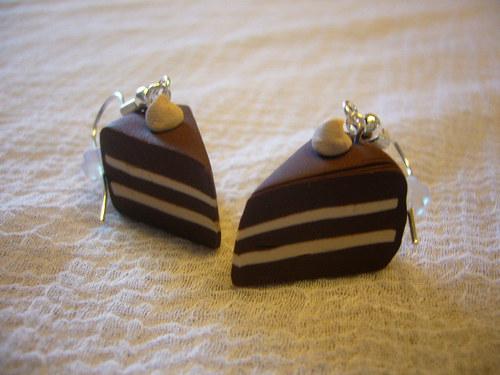 Náušnice nugátové dortíky