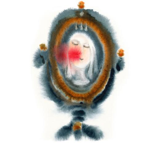 Zrcadlo 1 - akvarel