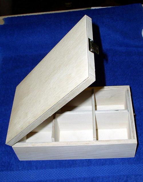 Krabička na čaj 6 přihrádek podlouhlá PD42