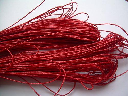 Bavlněná šňůra červená - 10 m