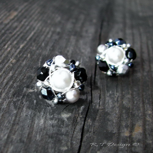 Náušničky Black & White...