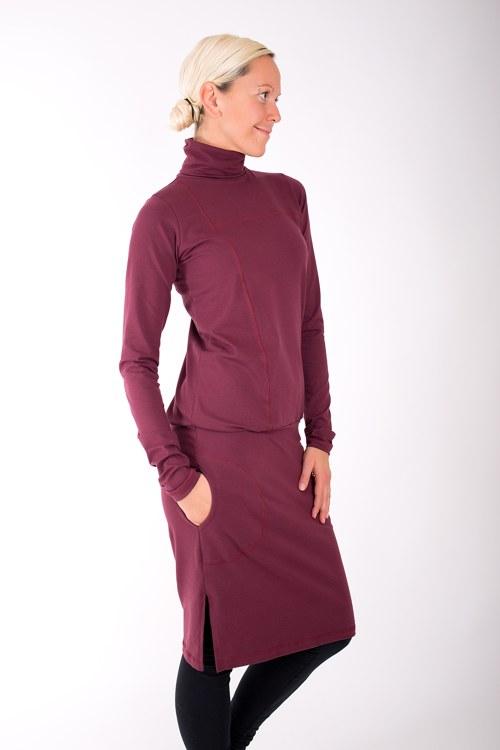 RUE SAINT HONORÉ... burgundy dress