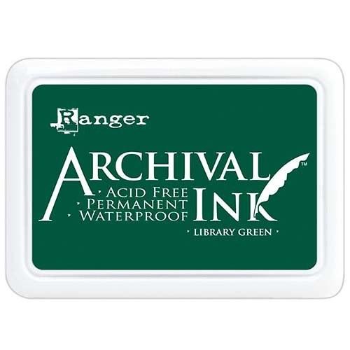 Archival inkoustový polštářek / Temně zelený