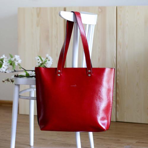 Kožená kabelka Lea (červená)