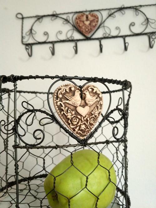 láskyplný - drátovaný košík
