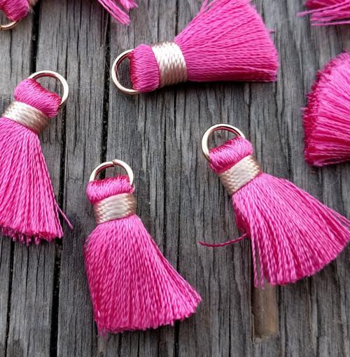 Luxusní ozdobné střapce - růžové, 2 kusy