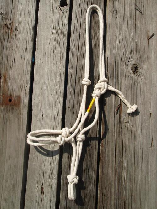 Akupresurní provazová ohlávka na koně BAVLNA