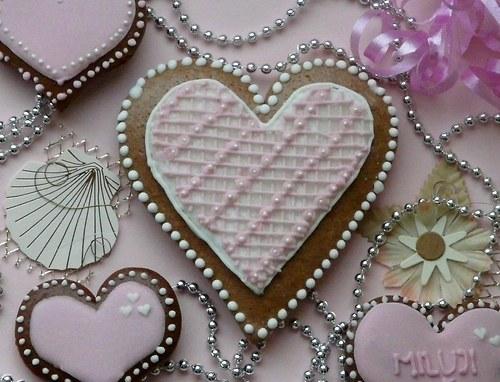 Valentinské srdce růžové