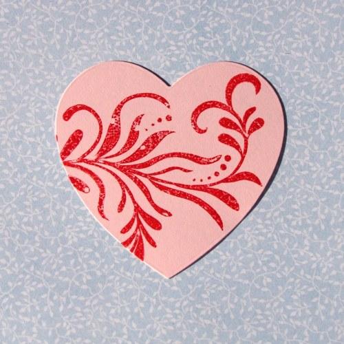 Srdce s ornamentem (XL)