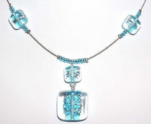 Kostky se stříhaným stříbrem - vinuté perle