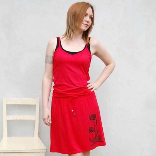 Šaty Chrpa – červená
