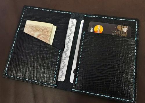 Rozevírací mini peněženka - ručně zpracováno