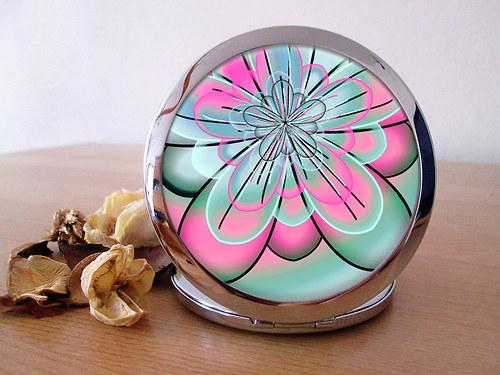 Kvalitní kapesní zrcátko - Juicy Flowers