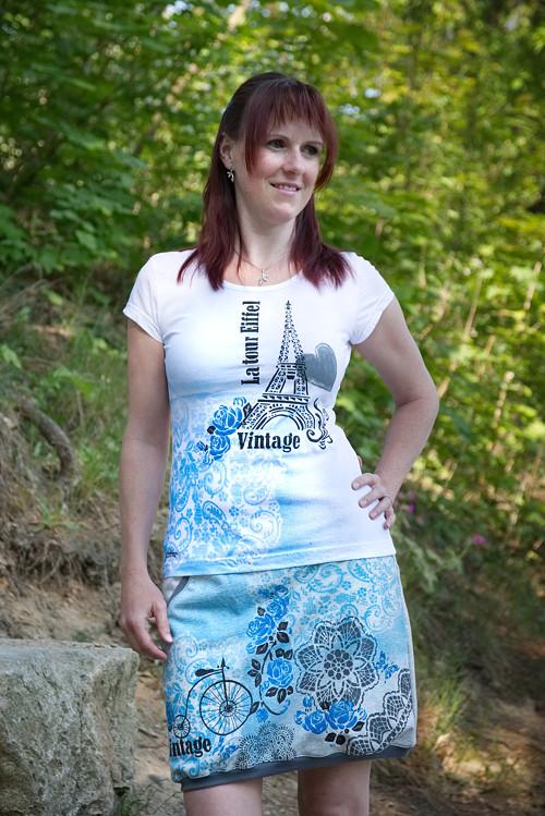 Sukně Vintage modrá - klidné zastavení