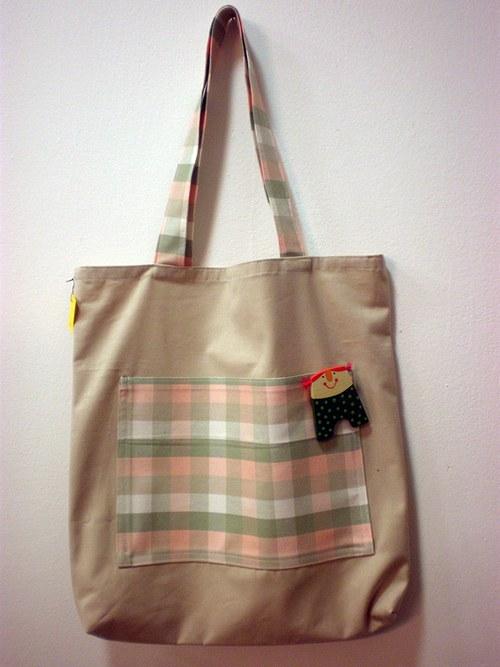 Nákupní taška s broží - panenka