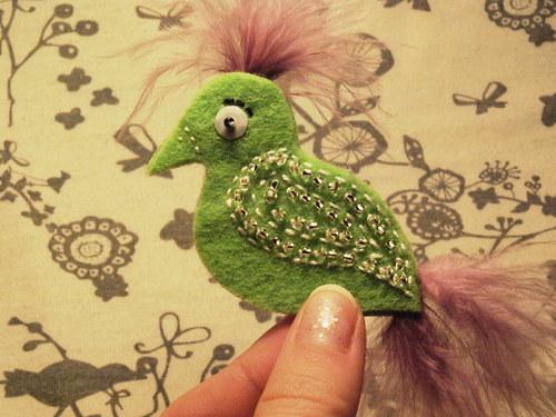 Ptáček - Zelenorůžový