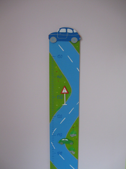 Dětský dřevěný metr - auta