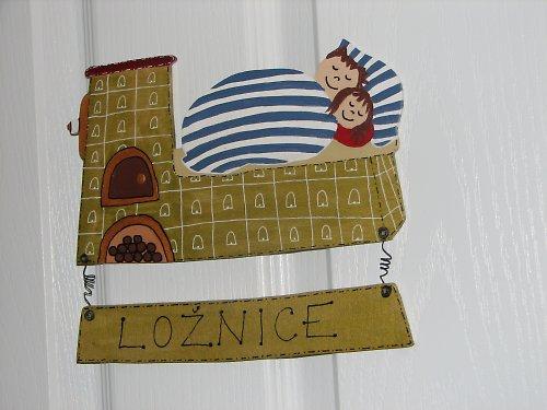 Dřevěná cedulka na dveře LOŽNICE