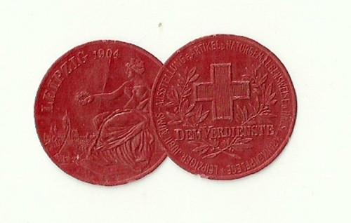 Medaile Lipsko 1904 výstava červeného kříže