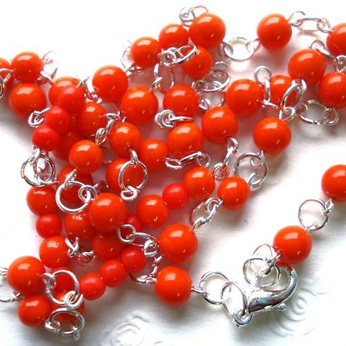 Oranžový náhrdelník  - SLEVA !!!