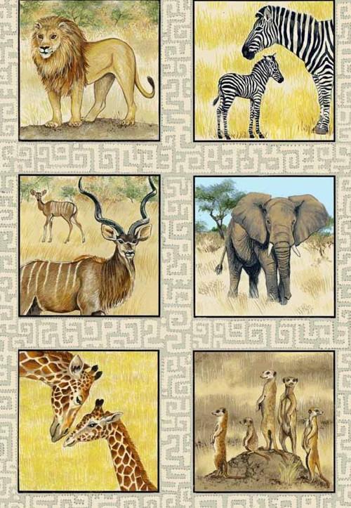 Africká zvířata I. - panel malý