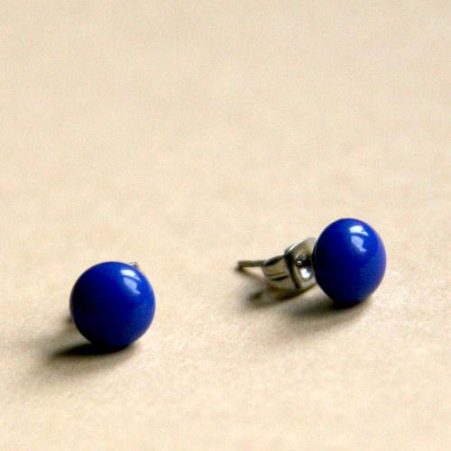 Náušnice Opaque královská modř