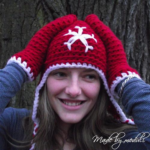 Červená vločka - čepice