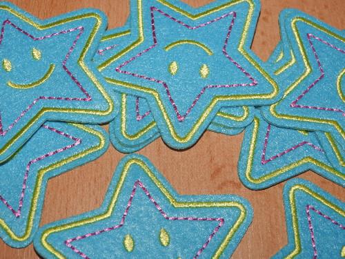 Nažehlovačka hvězda modrá č.2