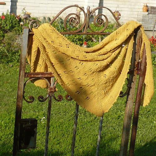 Bavlněný šátek ...hořčice