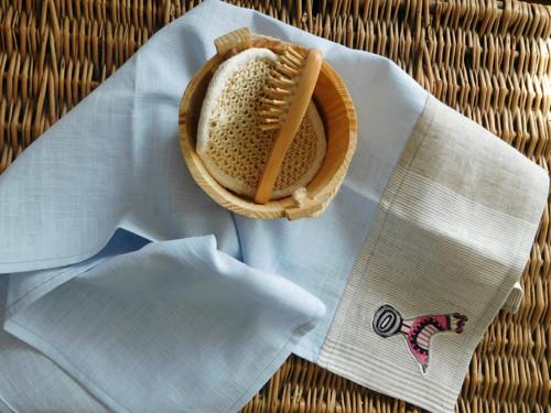 Lněná sada-velká osuška a ručník II