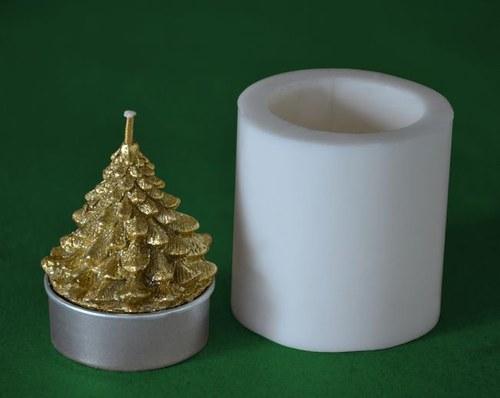 Silikon. forma na čaj. svíčku - Stromeček široký