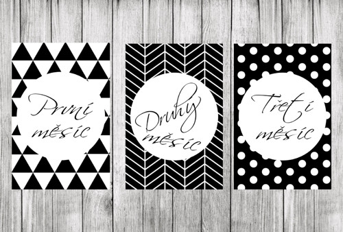 Milníkové kartičky pro váš vlastní tisk - měsíce