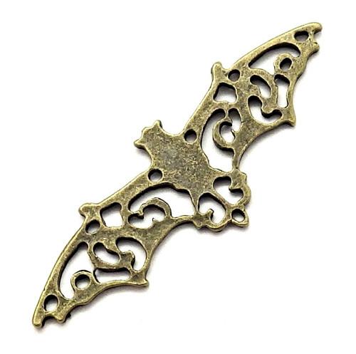 Velký bronzový přívěsek - filigránový netopýr