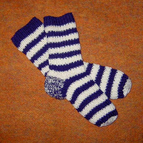 Pletené teplé ponožky