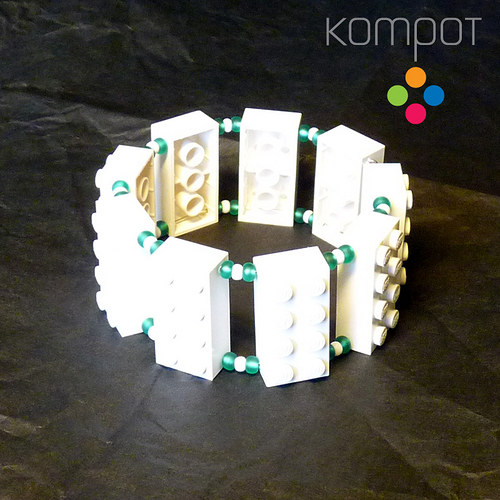 LEGO náramek :: bílý