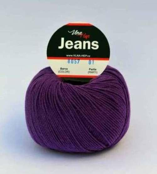 Jeans fialová 8057