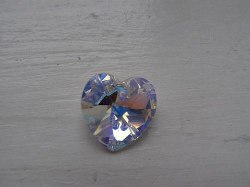 Swarovski srdce 18mm - Crystal AB