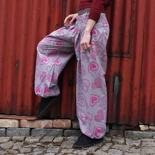 Turecké kalhoty Folklórní srdce