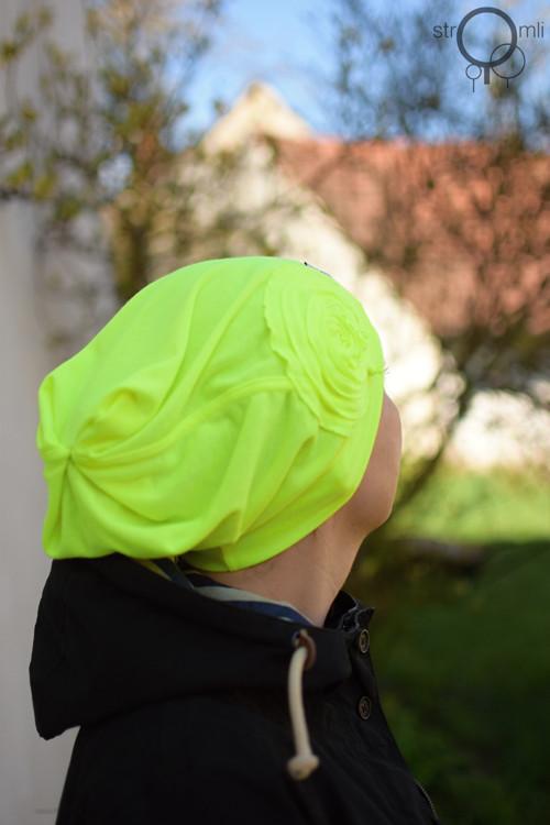 Hřeje mě na uších neonová žlutá, vel. UNI