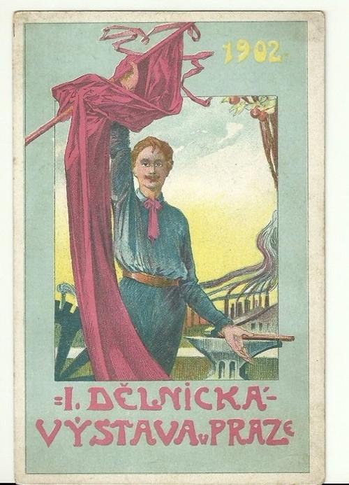 Pohlednice se Sokolskou tématikou r.1902
