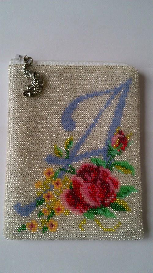 Korálková kapsička na mobil