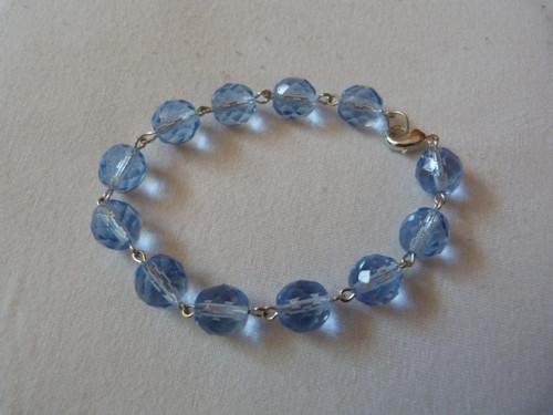 modré broušené korálky