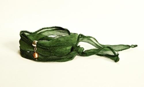Dámský WRAP náramek BRYXI v tmavě zelené barvě