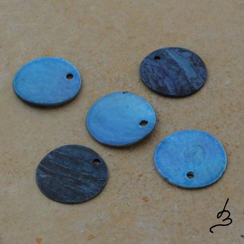 Penízky perleťové modré
