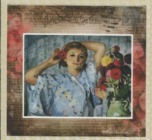 bavlněná látka - panel 12 x 12,5 cm
