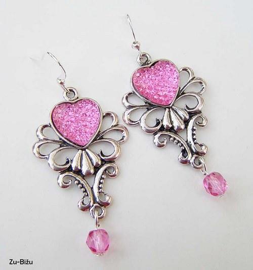 Ružové náušnice